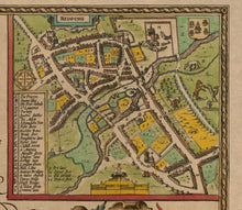 Load image into Gallery viewer, Old Map of Buckinghamshire in 1611 by John Speed - High Wycombe, Amersham, Buckingham, Milton Keynes - Christmas Gift - Vintage Map - Framed, Unframed