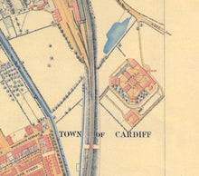 Load image into Gallery viewer, Ordnance Survey map of Cardiff, 1851 - Framed or Unframed