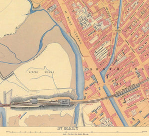 Ordnance Survey map of Cardiff, 1851