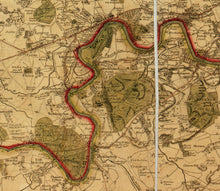 Load image into Gallery viewer, Old Map of London and Suburbs (25 miles) in 1790, by W. Faden - Framed or Unframed