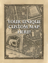 Load image into Gallery viewer, CUSTOM Map of London in 1746 by John Rocque - Framed or Unframed