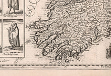 Load image into Gallery viewer, Old Map of Ireland, Éireann 1611 by John Speed - Monochrome Antique Vintage Map - British Isles Christmas & Birthday Gift - Framed, Unframed