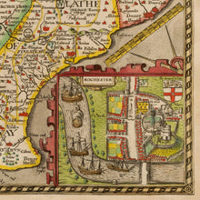 Load image into Gallery viewer, Old Map of Kent in 1611 by John Speed - Vintage Map, Antique Wall Art - Framed or Unframed - Large Maps Available