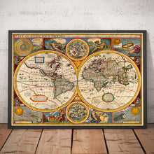 Load image into Gallery viewer, Old World Map from 1651 by John Speed - Rare Colour Vintage Map - Antique Wall Art - Framed or Unframed - Large Prints Available