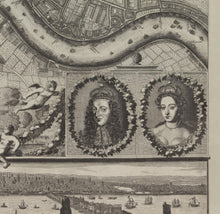 Load image into Gallery viewer, Rare Old Map of London in 1690 by Joannes de Ram - Antique, Vintage Map - Framed or Unframed - Large Wall Art