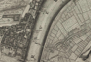 Rare Old Map of London in 1690 by Joannes de Ram - Antique, Vintage Map - Framed or Unframed - Large Wall Art