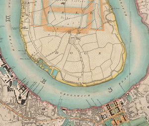 CUSTOM Greenwood's Map of London 1830 - square, portrait or landscape