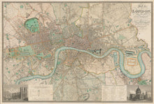 Load image into Gallery viewer, CUSTOM Greenwood's Map of London 1830 - square, portrait or landscape - Framed or Unframed