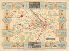 Load image into Gallery viewer, Old Map of the London Underground in 1922 - Vintage Map, Antique Map - Framed or Unframed - Large Sizes Available