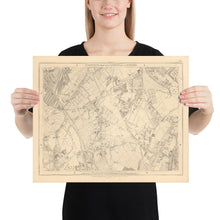 Load image into Gallery viewer, Old Map of South London in 1862 by Edward Stanford - Dulwich, Peckham Rye, Herne Hill, Forest Hill - Vintage Map, Large Antique Wall Art - Framed or Unframed