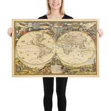 Load image into Gallery viewer, Old World Atlas Map, 1700 by Paolo Petrini - Very Rare Antique Map, Vintage Wall Art - Framed or Unframed