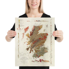 Load image into Gallery viewer, Old Map of Scotland Geology by Roderick I. Murchison 1862 - Skye, Shetland, Orkney, Highlands - Vintage Antique Wall Art - Framed, Unframed