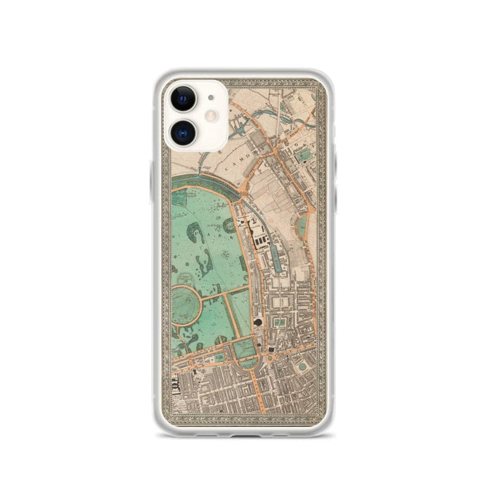 Designer iPhone Case - with CUSTOM old map of London (C&J Greenwood 1830, John Rocque 1746, Charles Booth 1898)