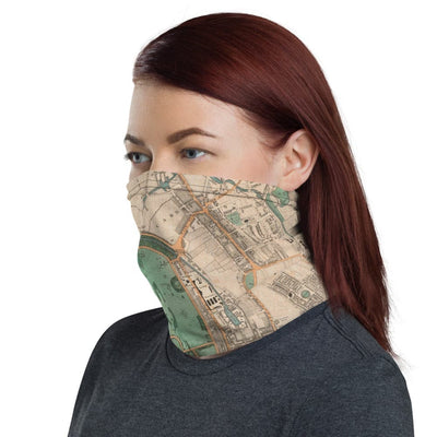Face mask with Greenwood's map of London