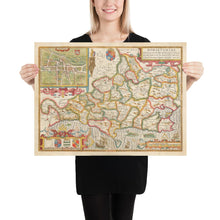 Load image into Gallery viewer, Old Map of Dorset in 1611 by John Speed - Vintage Map, Antique Map, Ancient Map of Dorsetshire - Framed or Unframed - Large Maps Available