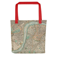 Load image into Gallery viewer, London Tote Bag - Unique tote bag featuring old maps of London (Charles Booth, C&J Greenwood, John Rocque)