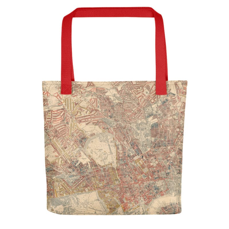 London Tote Bag - Unique tote bag featuring old maps of London (Charles Booth, C&J Greenwood, John Rocque)