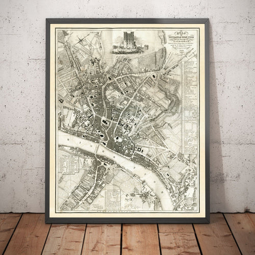 Newcastle upon Tyne and Gateshead by Thomas Oliver, 1830 - Framed or Unframed