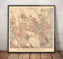 Load image into Gallery viewer, Map of London Poverty 1898-9, North Western District, by Charles Booth - Framed or Unframed
