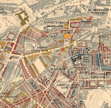 Load image into Gallery viewer, Map of London Poverty 1898-9, Inner Western District, by Charles Booth - Framed or Unframed