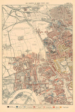 Load image into Gallery viewer, Map of London Poverty 1898-9, Outer Western District, by Charles Booth - Framed or Unframed