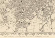 Load image into Gallery viewer, Old Map of Sheffield, Yorkshire in 1851 by Tallis, Rapkin - Antique Vintage City Wall Art - Christmas or Birthday Gift - Framed or Unframed