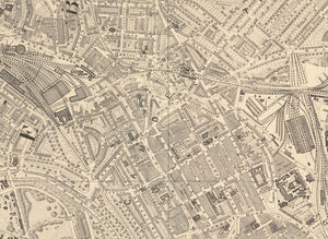 Old Map of North London in 1862 by Edward Stanford - Camden, Regents Park, Kentish Town, Kings Cross - Vintage Map, Large Antique Wall Art - Framed or Unframed