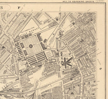 Load image into Gallery viewer, Old Map of North London in 1862 by Edward Stanford - Camden, Regents Park, Kentish Town, Kings Cross - Vintage Map, Large Antique Wall Art - Framed or Unframed