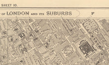 Load image into Gallery viewer, Old Map of Central London, 1862 - Mayfair, Oxford Street, Westminster, Knightsbridge, Waterloo - Vintage Antique Wall Art - Framed, Unframed