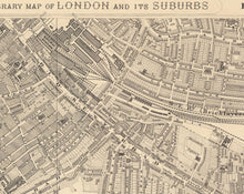 Load image into Gallery viewer, Old Map of South London in 1862 - Camberwell, Peckham, Walworth, Nunhead, Old Kent Road - Vintage Antique Wall Art - Framed or Unframed