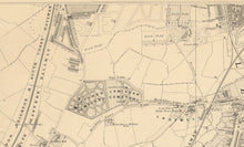Load image into Gallery viewer, Old Map of South East London, 1862 - Lewisham, Ladywell, Brockley, Catford - Personalised Antique Christmas Gift - Framed, Unframed