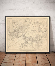 Load image into Gallery viewer, Old Map of South West London, 1862 by Edward Stanford - Wimbledon, Merton, Summerstown - Personalised Antique Christmas Gift - Framed, Unframed