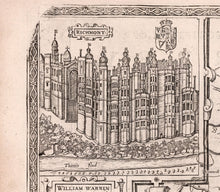 Load image into Gallery viewer, Old Map of Surrey in 1611 by John Speed - Woking, Guildford, Croydon, Richmond, London - Vintage Monochrome Wall Art - Framed or Unframed