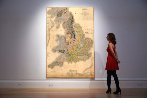 Rare William Smith Geology Map of England, Scotland & Wales, 1815 - Up to 5 meters (16ft) - Vintage Wall Art - Framed or Unframed