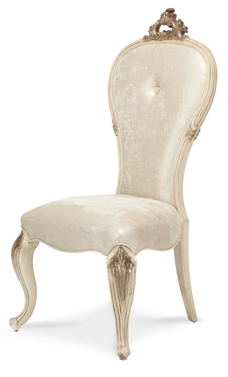 Aico Platine de Royale Side Chair in Champagne (Set of 2) 09003-201