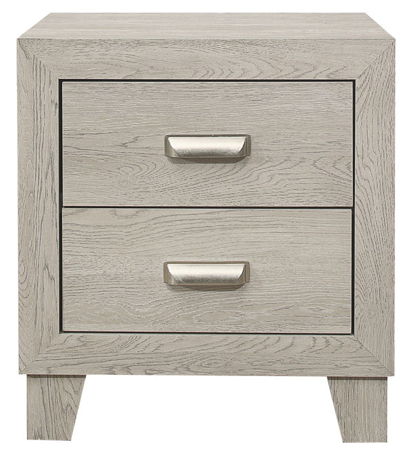 Homelegance Furniture Quinby 2 Drawer Nightstand in Light Brown 1525-4