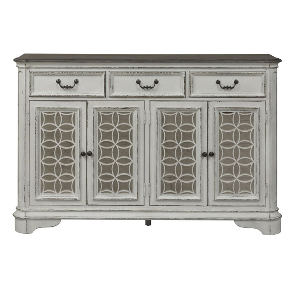 Liberty Furniture Magnolia Manor Hall Buffet in Antique White 244-HB6642 image