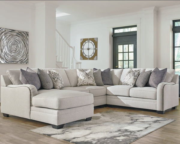 Dellara Benchcraft 4-Piece Sectional with Chaise