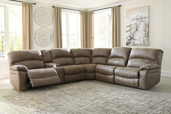 Segburg Benchcraft 4-Piece Power Reclining Sectional image