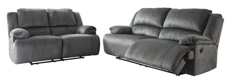 Clonmel Reclining Sofa and Loveseat Package