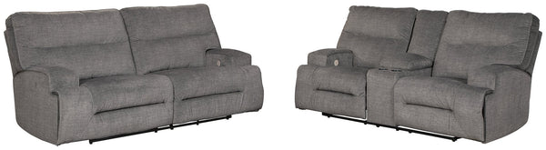 Coombs Power Reclining Sofa and Loveseat Package