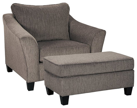 Nemoli Oversized Chair and Ottoman Package