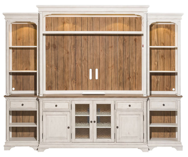 "Liberty Morgan Creek 56"" Entertainment Center with Piers in Antique White image"