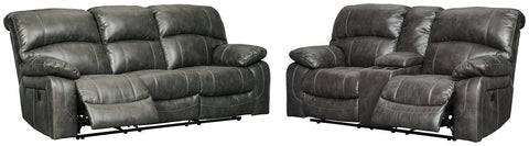 Dunwell Power Reclining Sofa and Loveseat Package