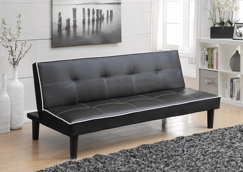 Contemporary Faux Leather Sofa Bed