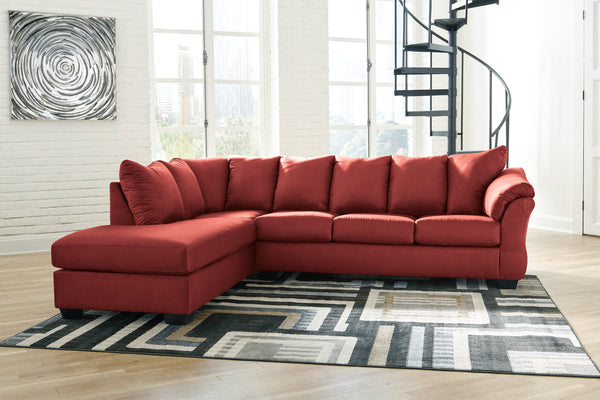Darcy Signature Design by Ashley 2-Piece Sectional with Chaise