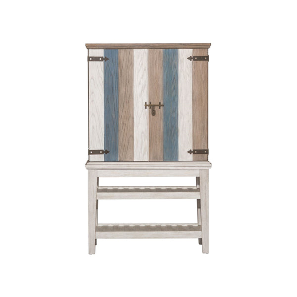 Liberty Furniture Heartland Wine Cabinet in Antique White 824-WC4068 image