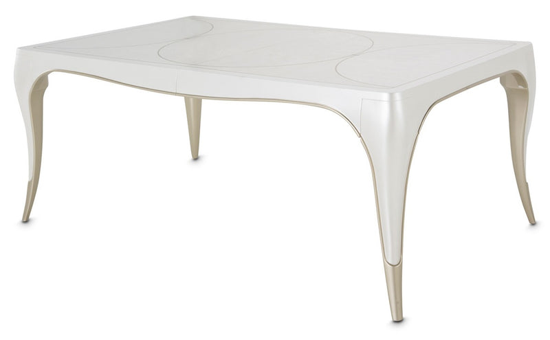 AICO Furniture London Place Dining Table in Creamy Pearl