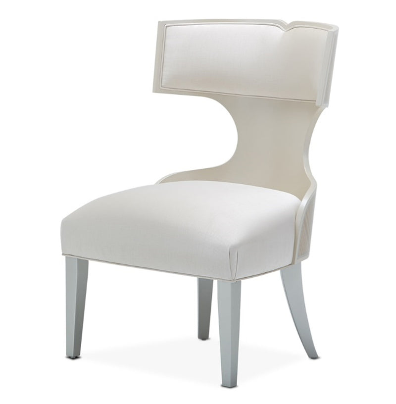 AICO Camden Court Vanity/Side Chair in Pearl 9005033-126