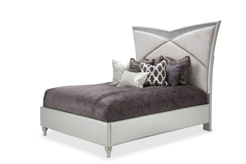 AICO Melrose Plaza California King Upholstered Bed in Dove 9019000CK-118